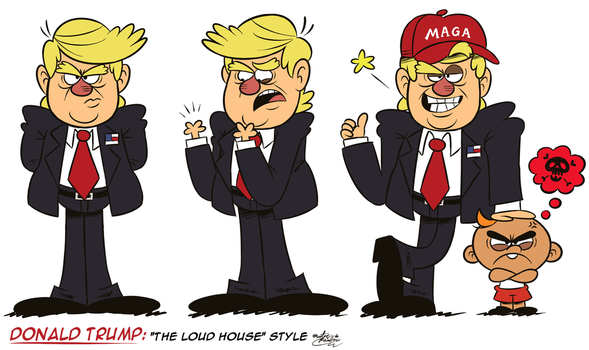 'The Donald' takes over ''THE LOUD HOUSE'' Style! by MAST3R-RAINB0W