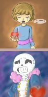 Undertale - dialogue less comic by janis-roxas