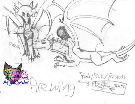 Firewing the dragon mount by AngelCnderDream14