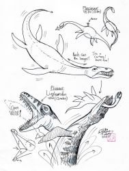 Draw Plesiosaur and Pliosaur by Diana-Huang