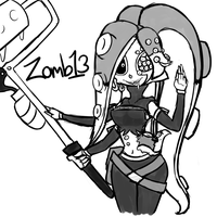Sanitized Octoling OC Zomb13 doodle by Glitched-Irken
