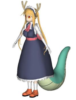 Tohru Dragon Maid 3D model by KLPlushies