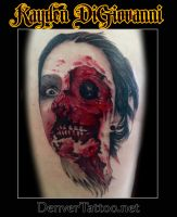 Zombie severed head by kayden7