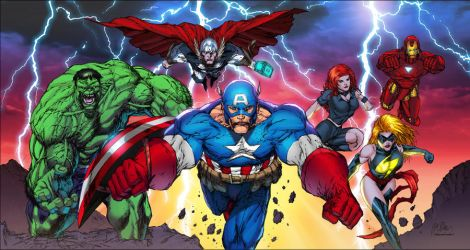 Avengers by Shelby colored by SplashColors
