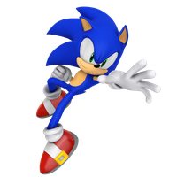 Sonic(Modern) Jump Action! Render by Nibroc-Rock