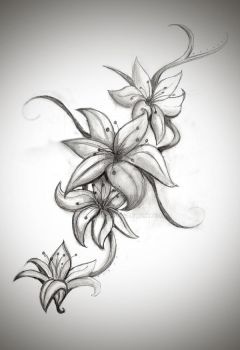 Lily Tattoo Design by BellaRexi