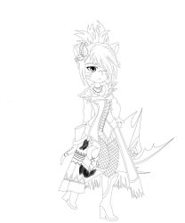 Sawari Line Art by Spinalz