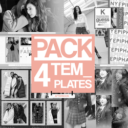 PACK (4) TEMPLATES. by StormOfWishes