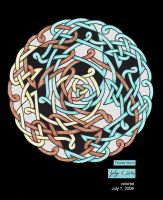 Colored Asymmeterical Knot 2 by Catgoyle