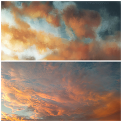 Cloud study with my photo by Emthedragoneye