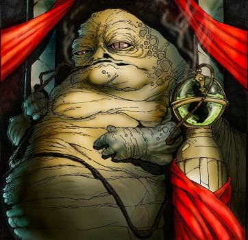 Jabba the Hutt - Colored by relkavin