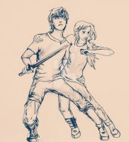 Percabeth in Tartarus by Alb-art