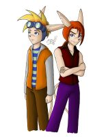 RKA - Sparkster and Axle - The Bryant Twins by artisticTaurean