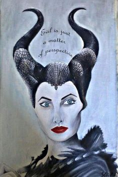 Maleficent-oil-painting-with-text-dark-version by HIPPOPOTOMONSTROSES1