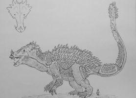 Monster Island Expanded: Anguirus by Trendorman