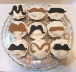 mustache cupcakes by scratchbakeshoppe