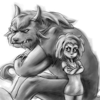 Gray version Asura and charr by Ermyan