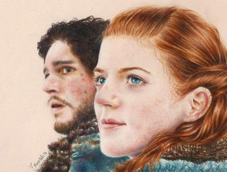 Ygritte and Jon by MonsieF