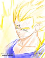 Majin vegeta colored in 11min and 4sec plus video by Mark-Clark-II