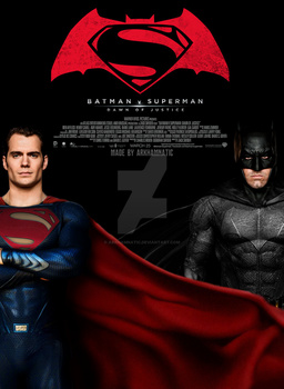 Batman vs Superman Dawn of Justice movie poster by ArkhamNatic