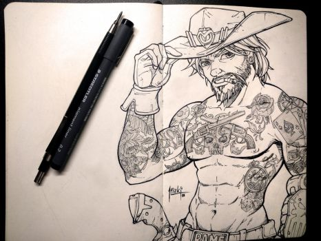 Mccree sketch by muglo