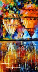 Balloon Reflections by Leonid Afremov by Leonidafremov