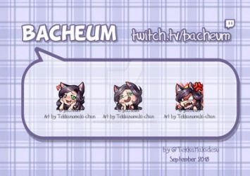 Commission: Twitch Emotes for Bacheum by TekkanoMaki-chan