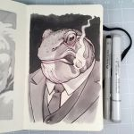 Inktober Day 24 - BIG BOSS FROG by D-MAC