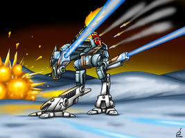 MAD-4M2 Marauder BattleMech by prdarkfox