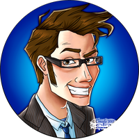 Cartoon 10th Doctor by Chrisily
