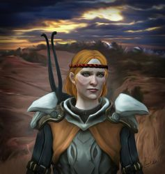 Aveline, thinking of Wesley by NatachaChoquet