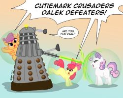 Ponies vs. Daleks Season Two: Cutiemark Crusaders! by the-gneech