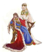 Uther and Igraine by nenuiel