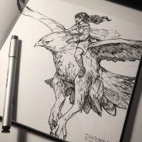 Inktober day 1: Swift by Jordy-Knoop