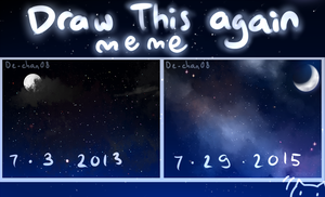 Draw this again meme - starry sky by DeanaHere