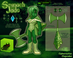 SU Gem OC Reference - Spinach Jade by CyberneticCupcake