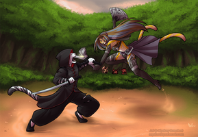 Comm -- sparring by Chebits