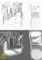 Cave sketch by LiddlBuddha