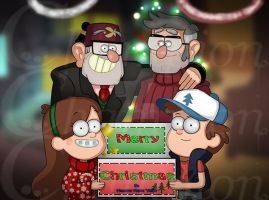 Gravity Falls -  Christmas 2015 by Championx91