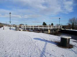 Caledonian Canal in snow by DanaVarahi