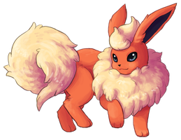 Type Collab: Fire - Flareon by Krisantyne