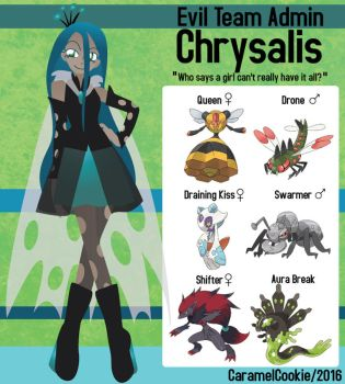 My Little Evil Team Admin - Chrysalis by CaramelCookie