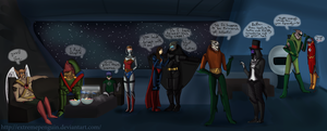 ME3: Halloween Party on the Normandy by ExtremePenguin