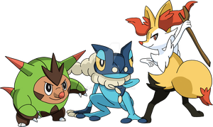 Kalos Starter Evolutions