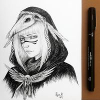 .: Crow : ( Inktober Day 2) :. by ryancamargos