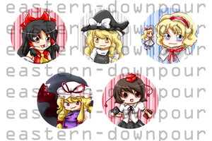 Touhou Buttons by khiro