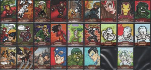 Iron Man 2 25 sketchcards by britbrakdown