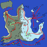 Arashi Region Map and Routes by OddEyedWraith