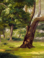 The Tiny House in the Tall Tree by Aliciane