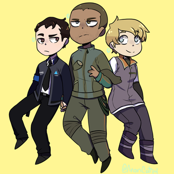Connor - Markus - Kara (Detroit: Become Human) by AnonCat74